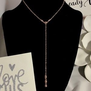 Gorjana Rose Gold Bali Y necklace